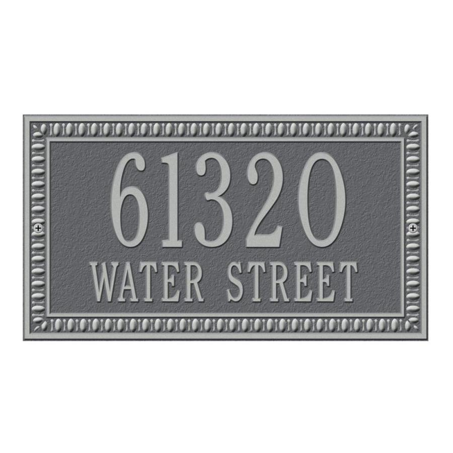 Whitehall 7.25-in x 13-in Egg and Dart Standard Wall Two Line Pewter Silver Plaque