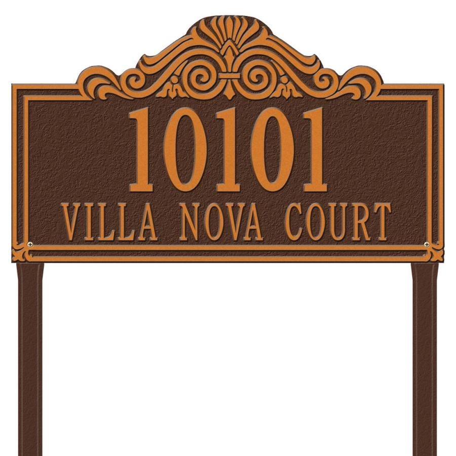 Whitehall 30.5-in x 23.5-in Villa Nova Estate Lawn Two Line Antique Copper Plaque
