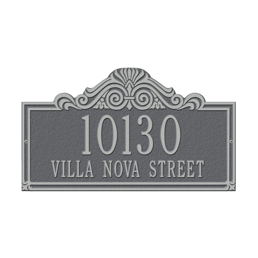 Whitehall 9.5-in x 16.5-in Villa Nova Standard Wall Two Line Pewter Silver Plaque