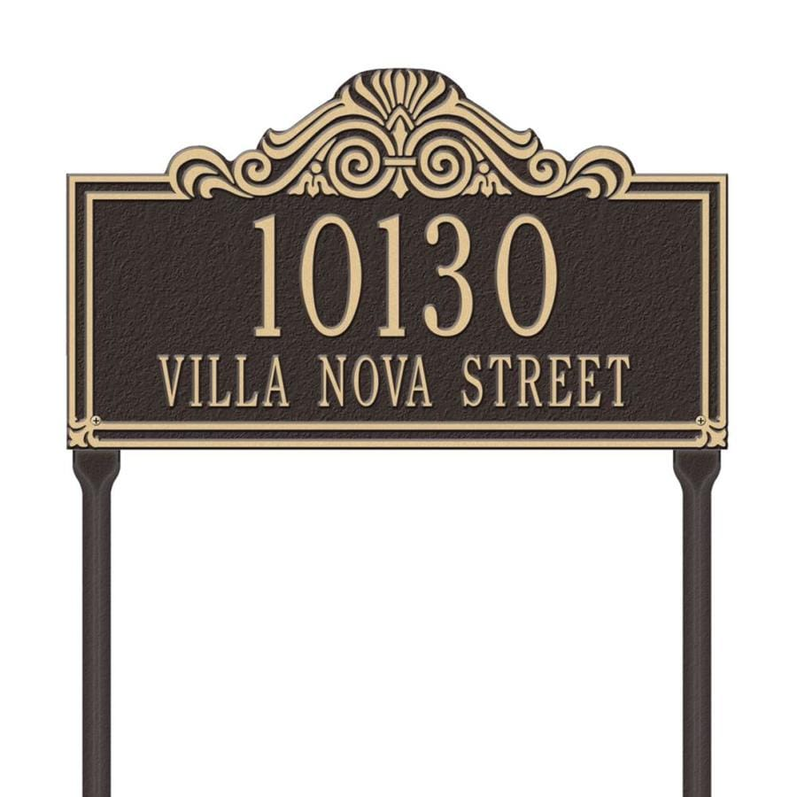 Whitehall 26.5-in x 16.5-in Villa Nova Standard Lawn Two Line Bronze/Gold Plaque