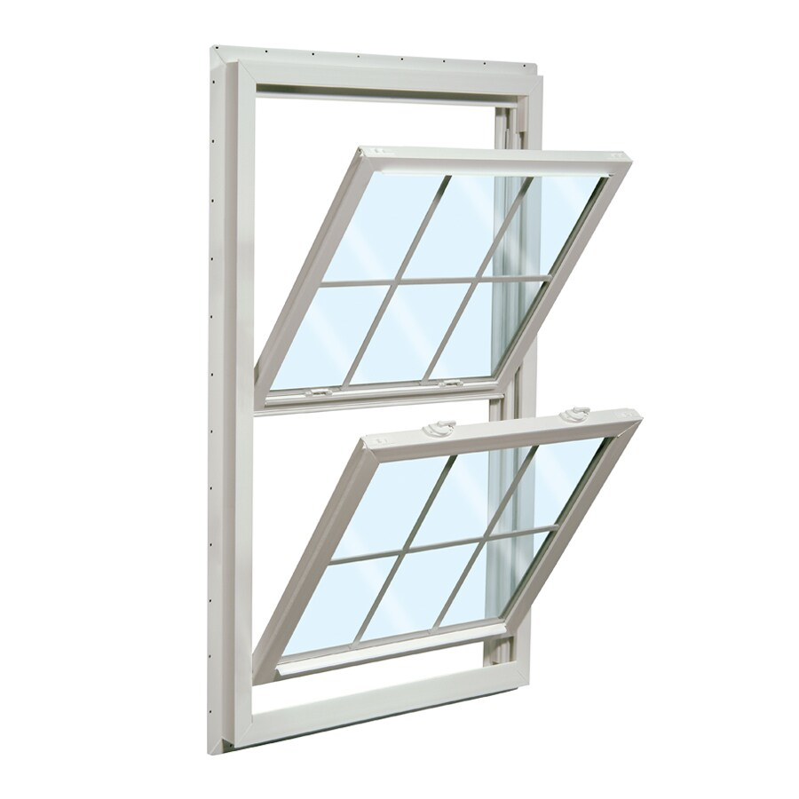 ReliaBilt 455 Series Vinyl Double Pane Single Strength Double Hung Window (Rough Opening: 32-in x 62-in; Actual: 31.5-in x 61.5-in)