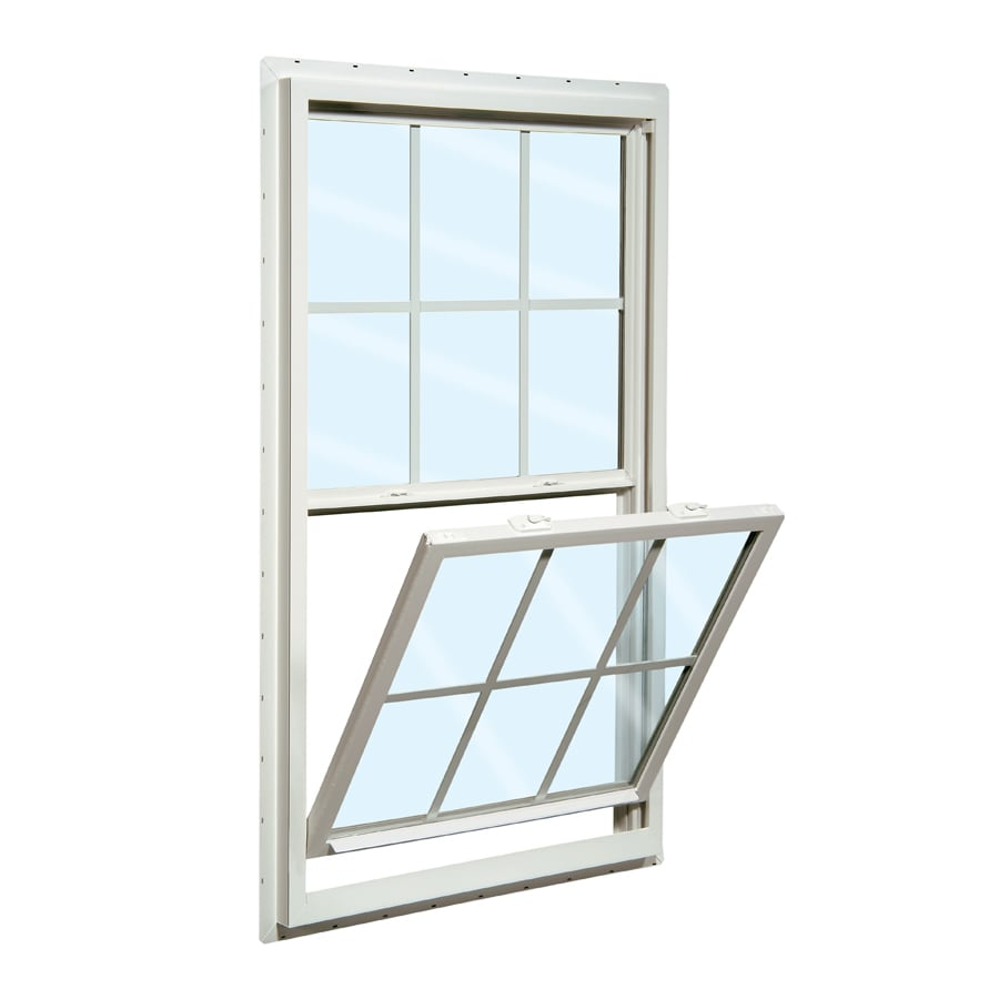 ReliaBilt 150 Series Vinyl Double Pane Single Strength Single Hung Window (Rough Opening: 36-in x 60-in; Actual: 35.5-in x 59.5-in)