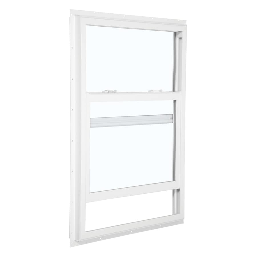 ReliaBilt 105 Series Vinyl Double Pane Single Strength Single Hung Window (Rough Opening: 24-in x 36-in; Actual: 23.5-in x 35.5-in)
