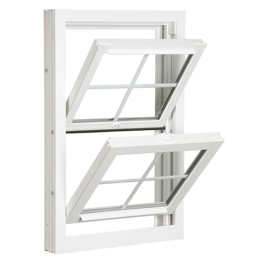 ReliaBilt 3900 Series Vinyl Double Pane Single Strength Replacement Double Hung Window (Rough Opening: 24-in x 61.75-in; Actual: 23.75-in x 61.5-in)