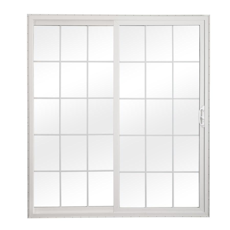 ReliaBilt 312 Series 70.75-in Grilles Between the Glass White Vinyl Sliding Patio Door