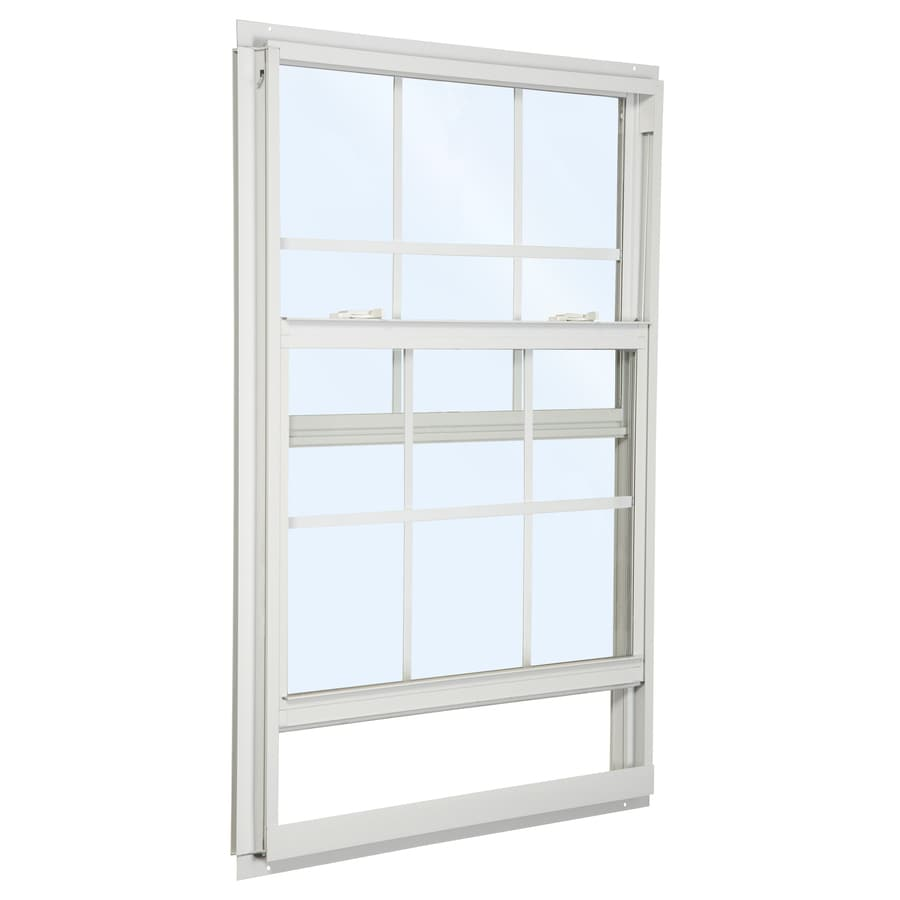 ReliaBilt 85 Series Aluminum Double Pane Single Strength Single Hung Window (Rough Opening: 32-in x 52-in; Actual: 31.5-in x 51.5-in)