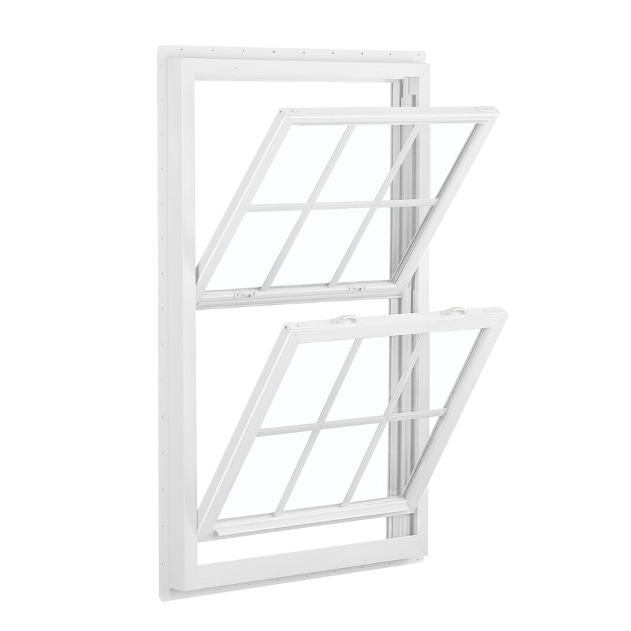 ReliaBilt 455 Series Vinyl Double Pane Single Strength Double Hung Window (Rough Opening: 32-in x 52-in; Actual: 31.5-in x 51.5-in)