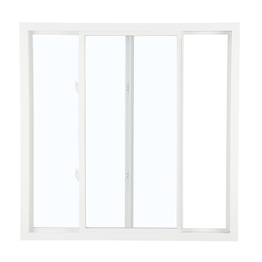 ReliaBilt 3050 Series Left-Operable Vinyl Double Pane Single Strength Replacement Egress Sliding Window (Rough Opening: 48-in x 48-in; Actual: 47.75-in x 47.75-in)
