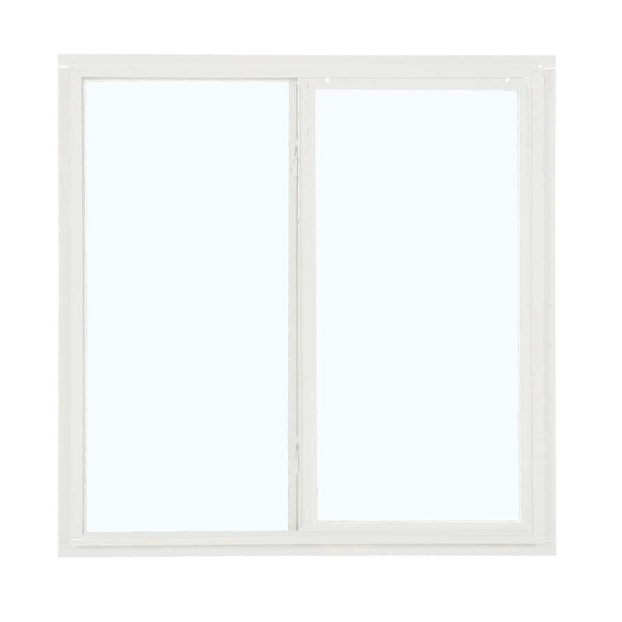 ReliaBilt 85 Series Left-Operable Aluminum Double Pane Single Strength New Construction Egress Sliding Window (Rough Opening: 48-in x 48-in; Actual: 47.5-in x 47.5-in)