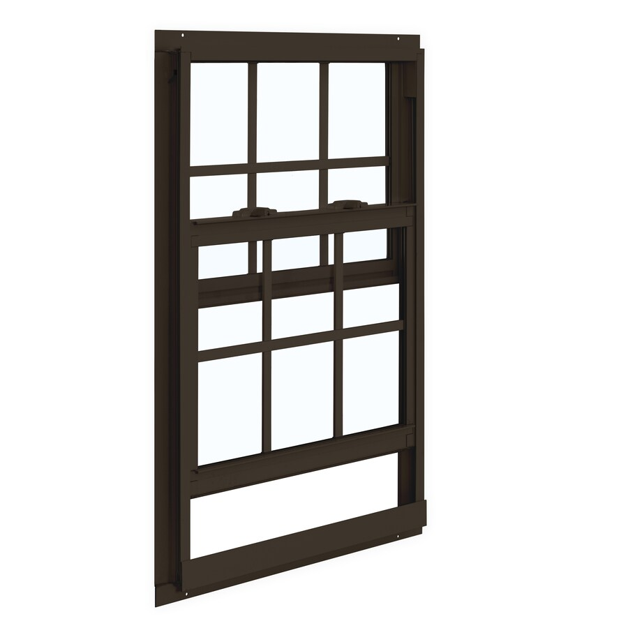 ReliaBilt 85 Series Aluminum Double Pane Single Strength Single Hung Window (Rough Opening: 32-in x 36-in; Actual: 31.5-in x 35.5-in)