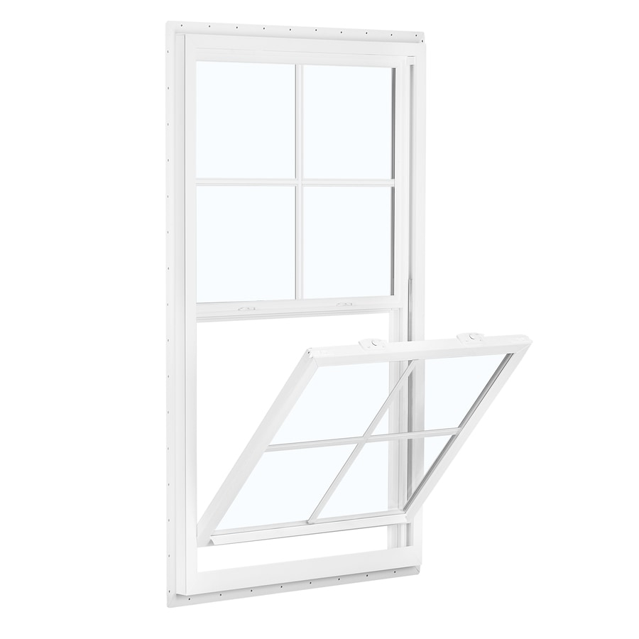 ReliaBilt 150 Series Vinyl Double Pane Single Strength Single Hung Window (Rough Opening: 24-in x 36-in; Actual: 23.5-in x 35.5-in)