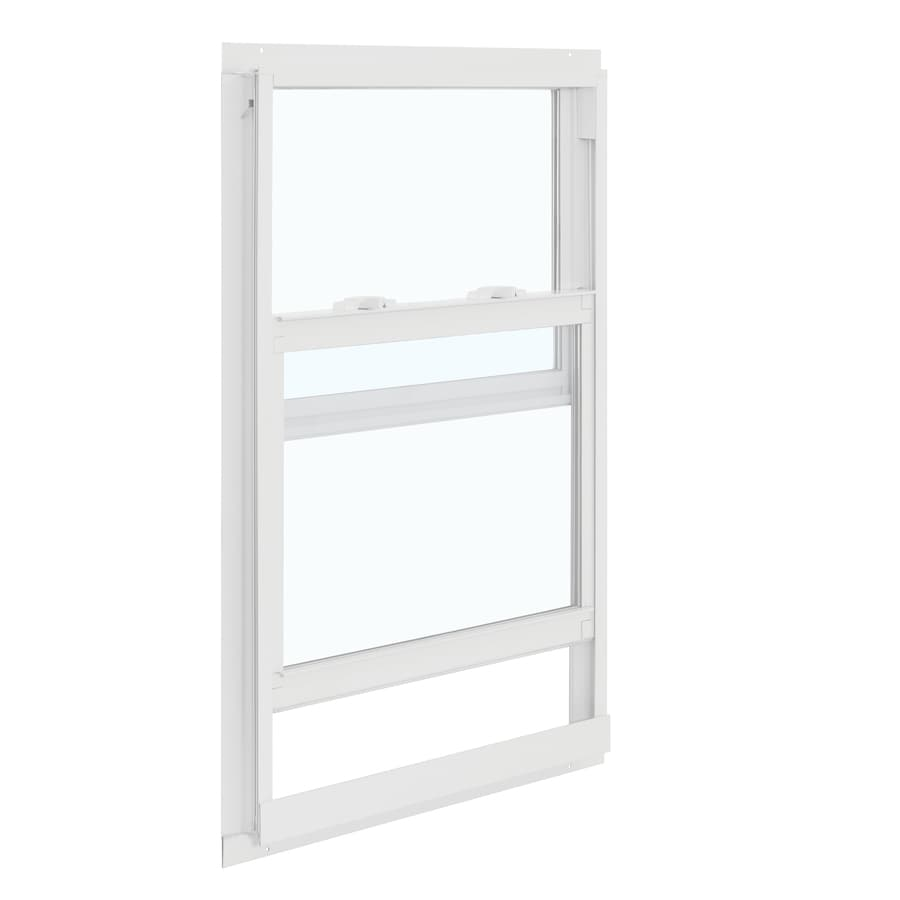 ReliaBilt 85 Series Aluminum Double Pane Single Strength Single Hung Window (Rough Opening: 24-in x 36-in; Actual: 23.5-in x 35.5-in)