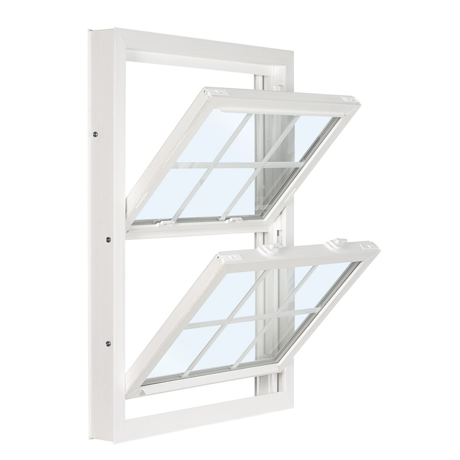 ReliaBilt 3201 Series Vinyl Double Pane Single Strength Replacement Double Hung Window (Rough Opening: 28-in x 46-in; Actual: 27.75-in x 45.75-in)