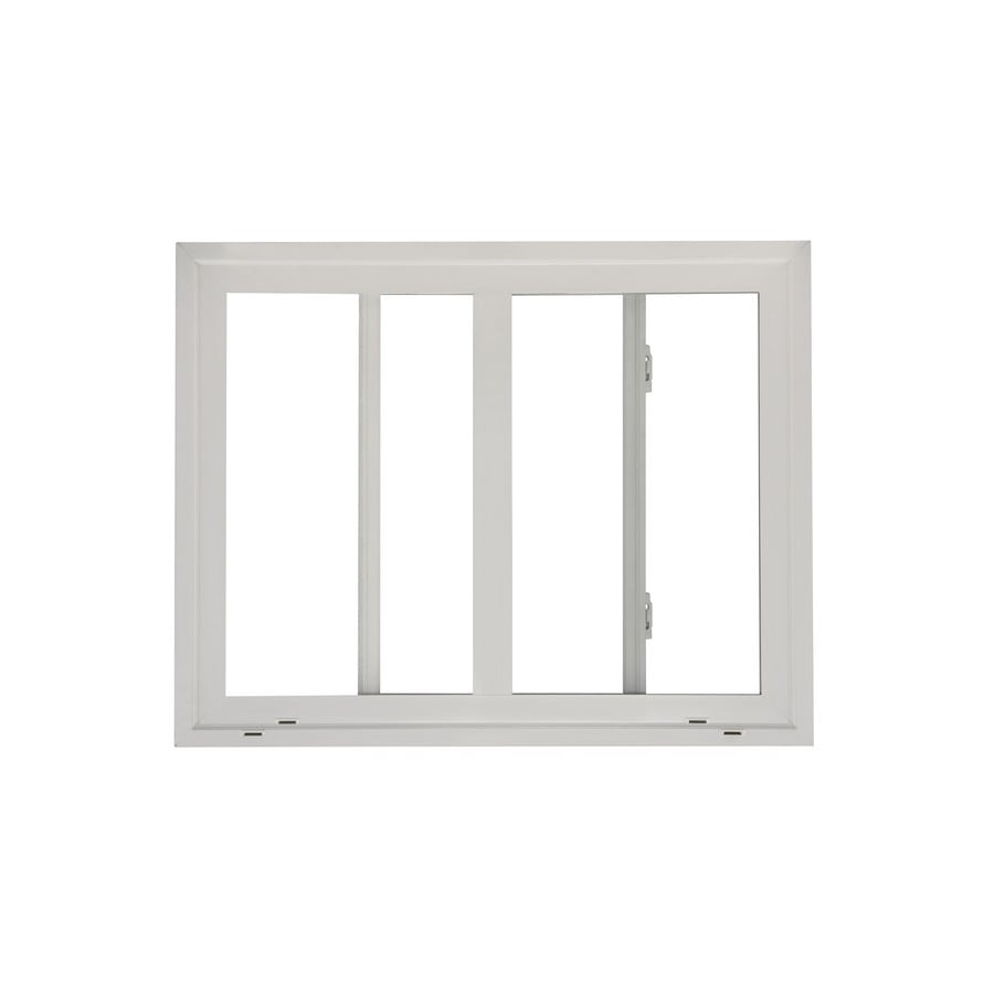 ReliaBilt 130 Series Left-Operable Vinyl Double Pane Single Strength New Construction Egress Sliding Window (Rough Opening: 48-in x 48-in; Actual: 47.5-in x 47.5-in)