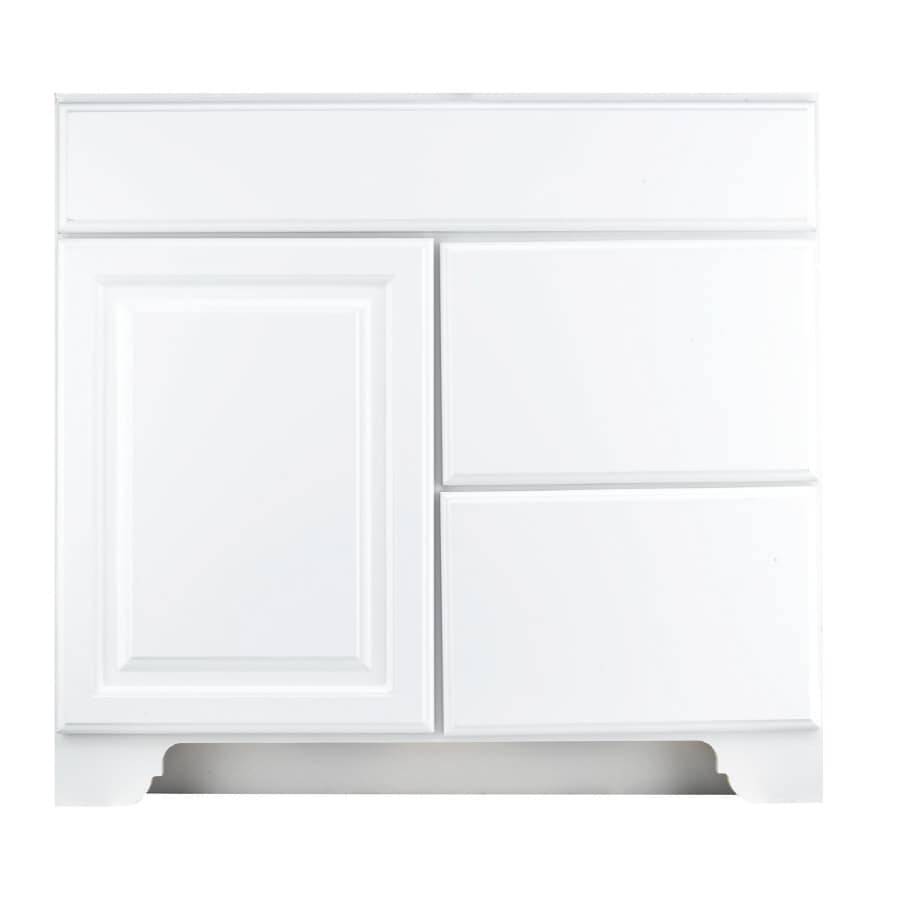 KraftMaid Traditional White Traditional Bathroom Vanity (Common: 36-in x 21-in; Actual: 36-in x 21-in)