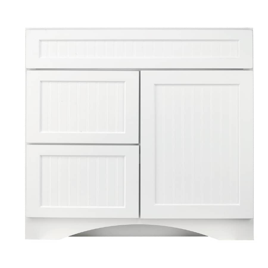 Shop Kraftmaid Cottage White Casual Bathroom Vanity Common 36 In X 21 In Actual 36 In X 21