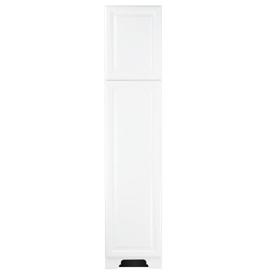 KraftMaid 18-in W x 83.5-in H x 18.88-in D White MDF Freestanding Linen Cabinet