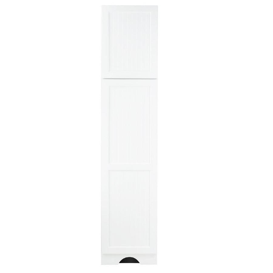 KraftMaid 18-in W x 83.5-in H x 21.88-in D White MDF Freestanding Linen Cabinet