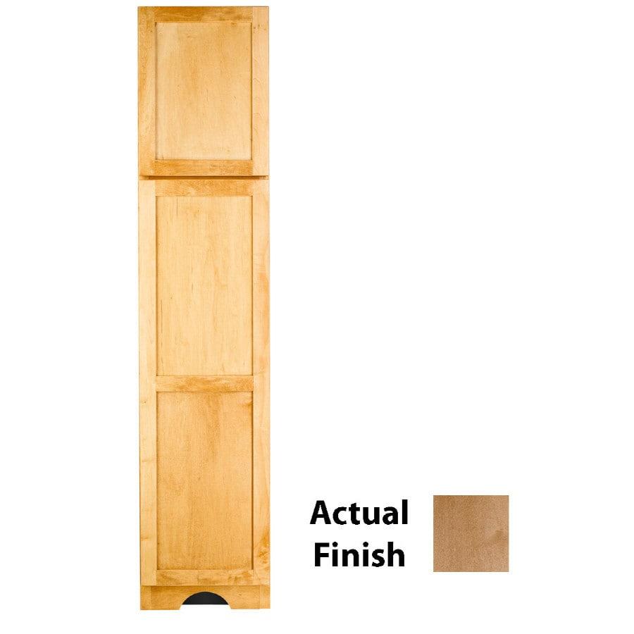 KraftMaid 18-in W x 83.5-in H x 18.88-in D Toffee Maple Freestanding Linen Cabinet
