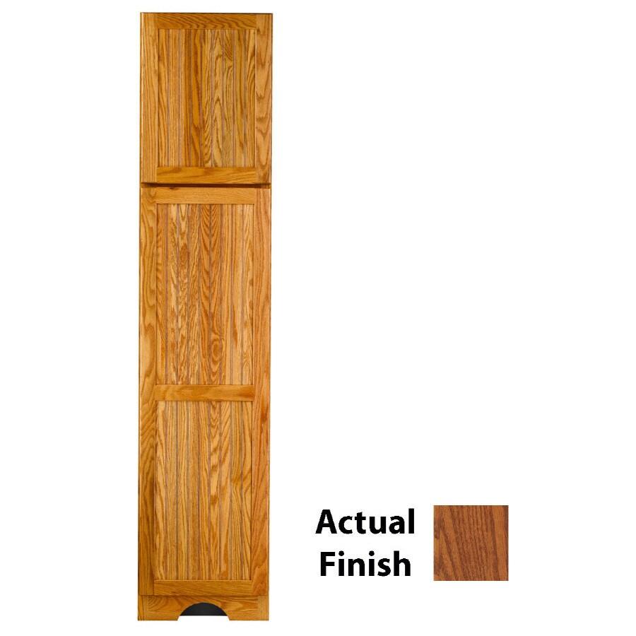 KraftMaid 18-in W x 83.5-in H x 21.88-in D Autumn Blush Oak Freestanding Linen Cabinet