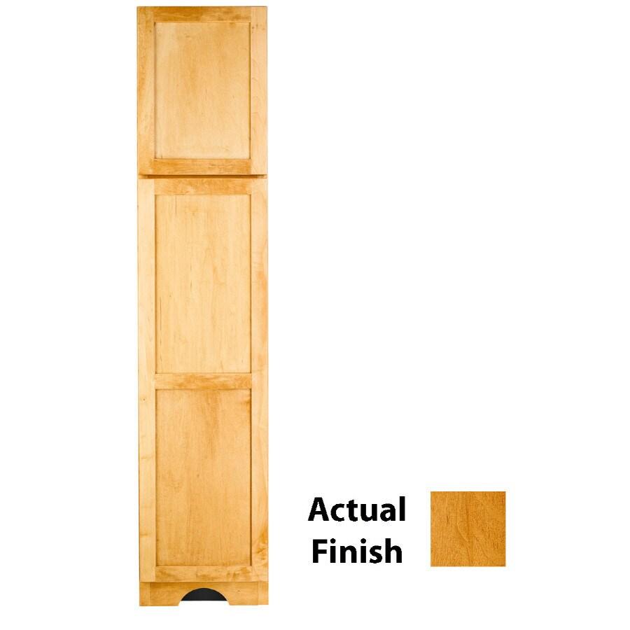 KraftMaid 18-in W x 83.5-in H x 21.88-in D Honey Spice Maple Freestanding Linen Cabinet