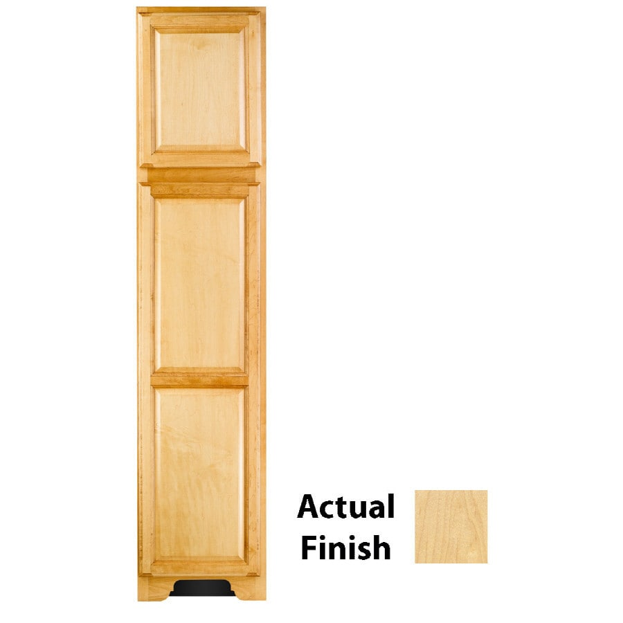 KraftMaid 18-in W x 83.5-in H x 21.88-in D Natural Maple Freestanding Linen Cabinet
