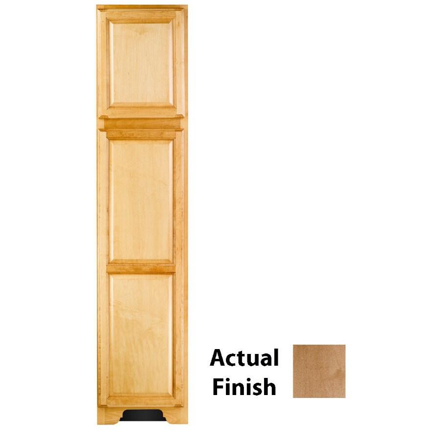 KraftMaid 18-in W x 83.5-in H x 21.88-in D Toffee Maple Freestanding Linen Cabinet