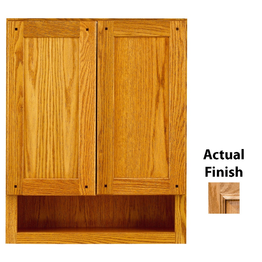 30 in h x 7 in d nutmeg glaze oak bathroom wall cabinet at