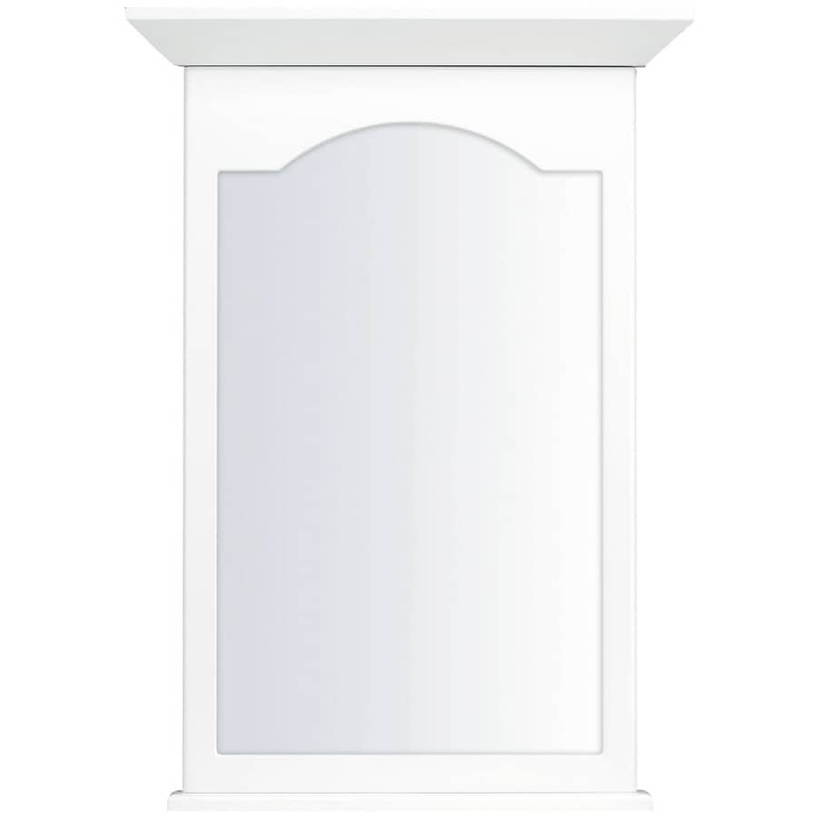 KraftMaid 25.44-in W x 40.75-in H White Rectangular Bathroom Mirror