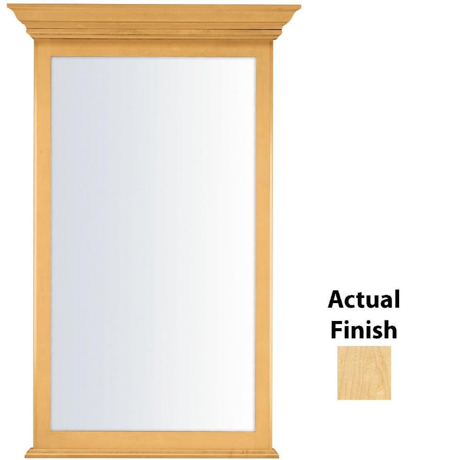 KraftMaid 25.44-in W x 40.75-in H Natural Rectangular Bathroom Mirror