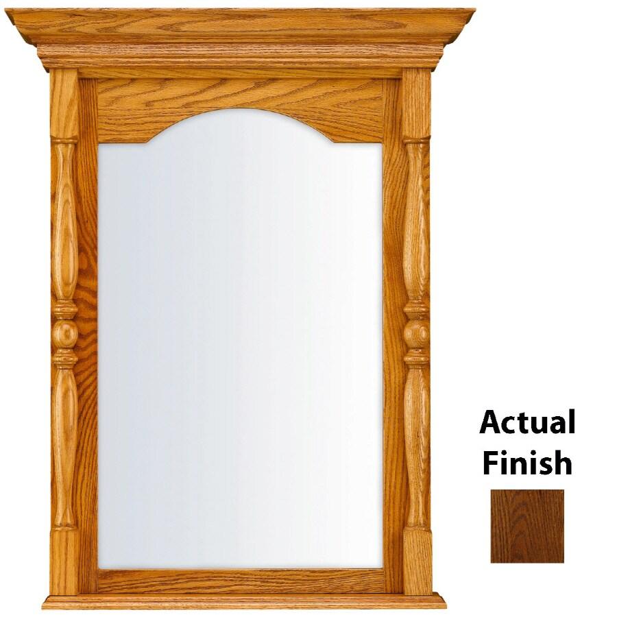 KraftMaid 28.95-in W x 37.05-in H Cognac Rectangular Bathroom Mirror