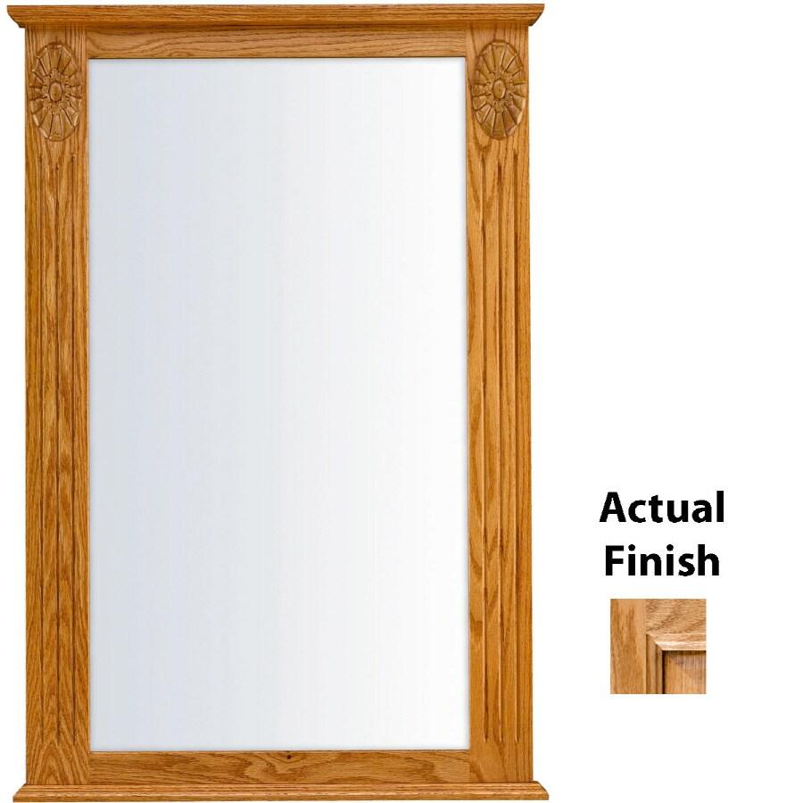 KraftMaid 25.25-in W x 37.5-in H Honey Spice with Mocha Highlight Rectangular Bathroom Mirror