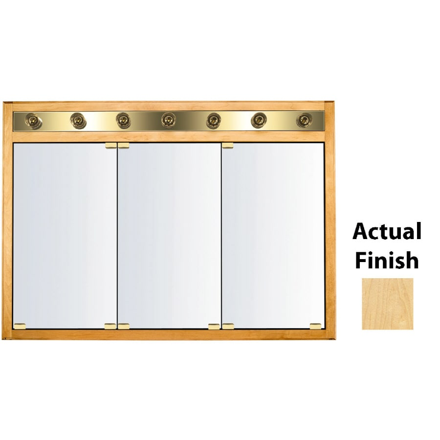 Shop KraftMaid Traditional 47 In X 33 In Square Surface Recessed Mirrored Woo