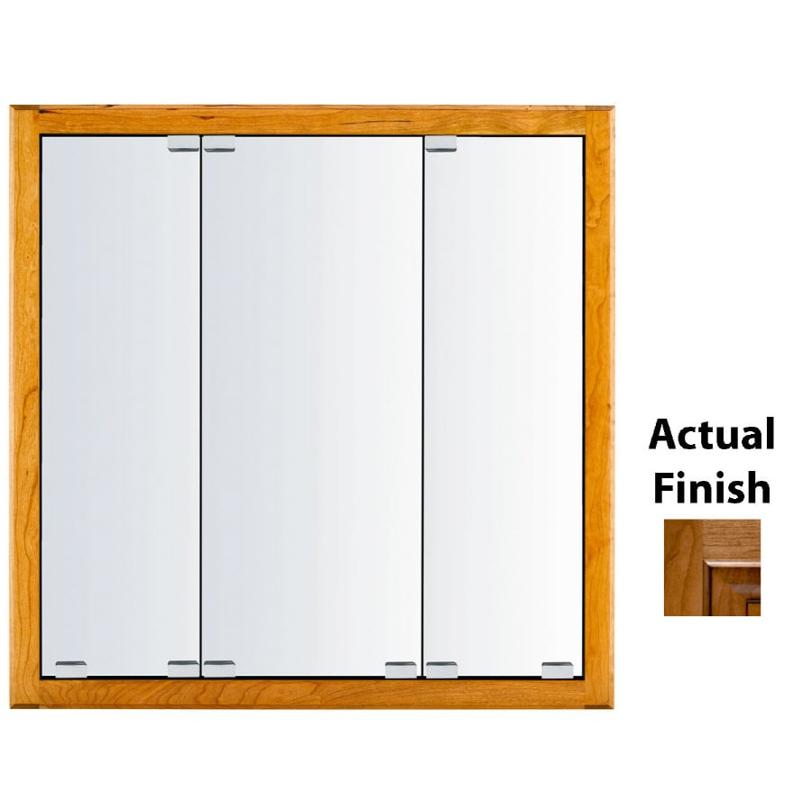 KraftMaid Classic 47-in x 28-in Square Surface/Recessed Mirrored Wood Medicine Cabinet