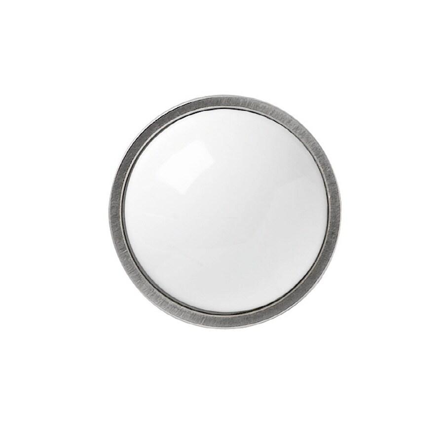 KraftMaid White Ceramic Insert Knob