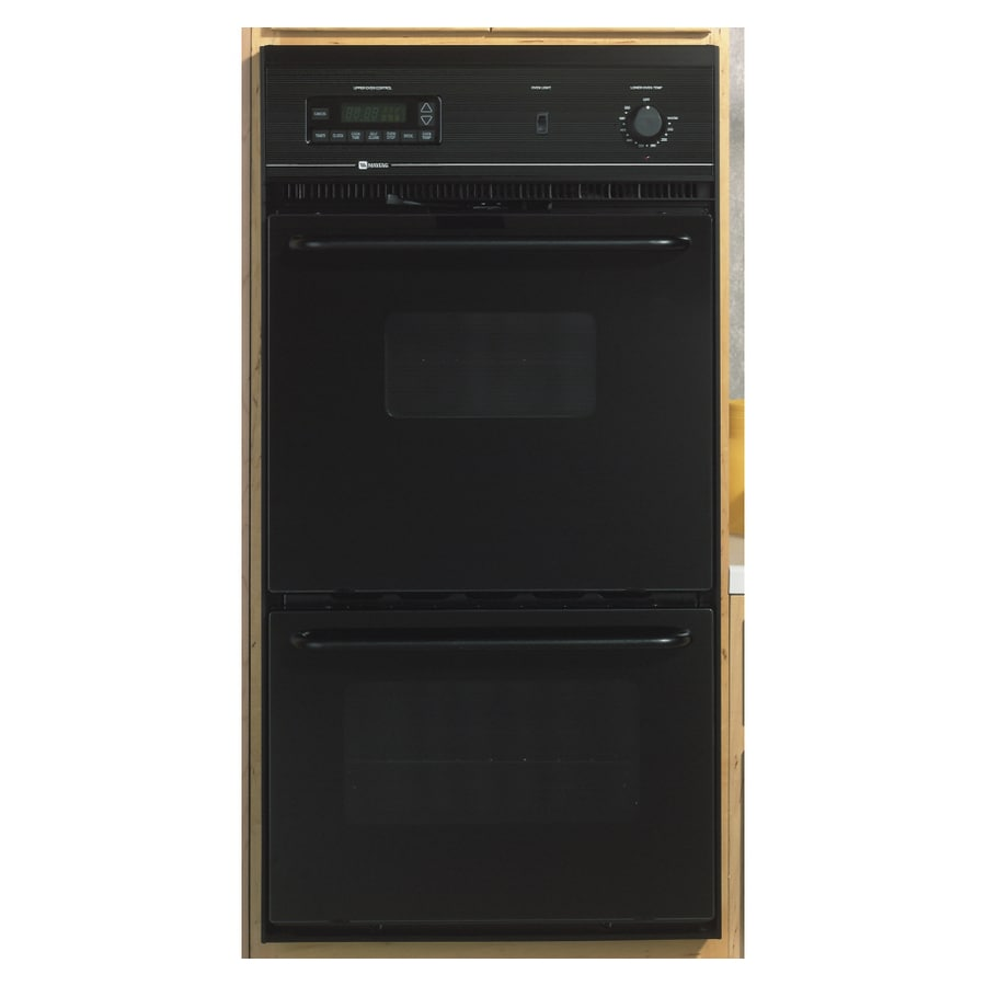 Maytag Self-Cleaning Double Electric Wall Oven (Black) (Common: 24-in; Actual: 23.87-in)