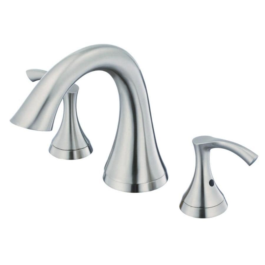 Antioch Brushed Nickel 2-Handle Adjustable Deck Mount Tub Faucet Product Photo