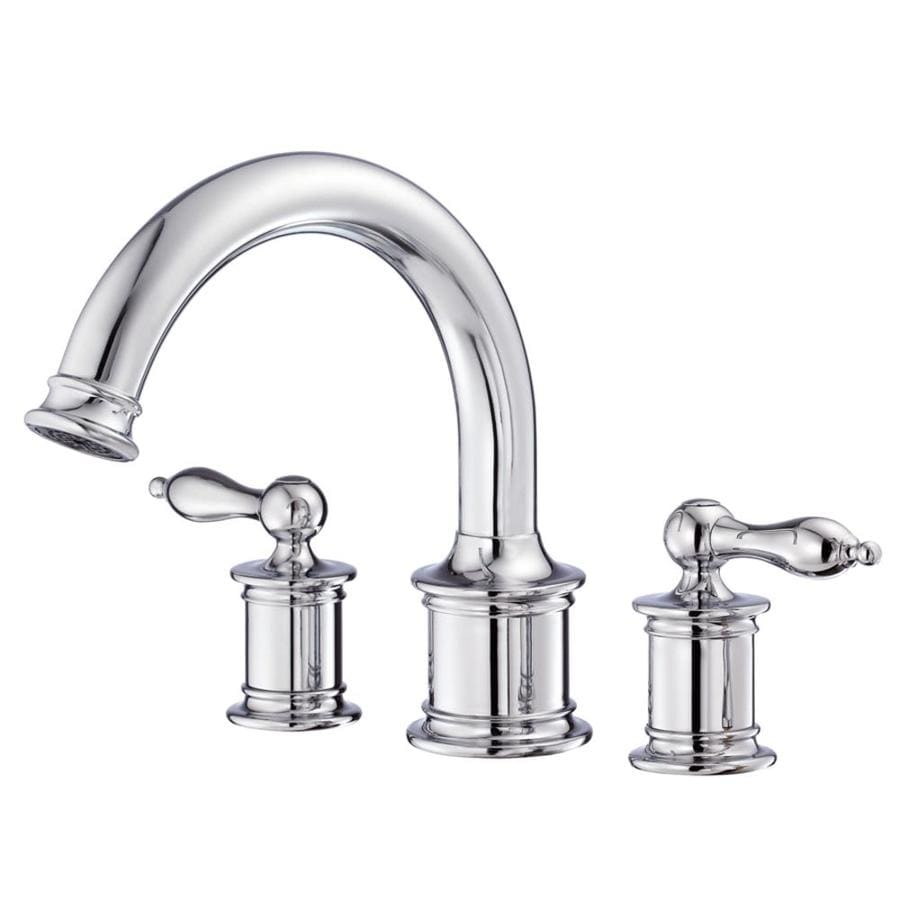 Danze Prince Chrome 2-Handle Adjustable Deck Mount Tub Faucet
