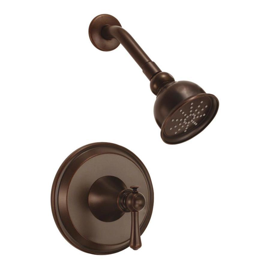 Danze Cape Anne Tumbled Bronze 1-Handle Shower Faucet Trim Kit with Single Function Showerhead