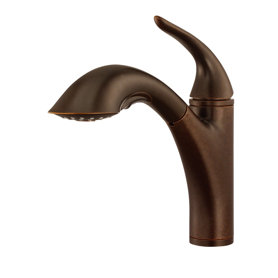 Bronze Kitchen Faucet : ... Antioch Tumbled Bronze 1-Handle Pull-Out Kitchen Faucet at Lowes.com