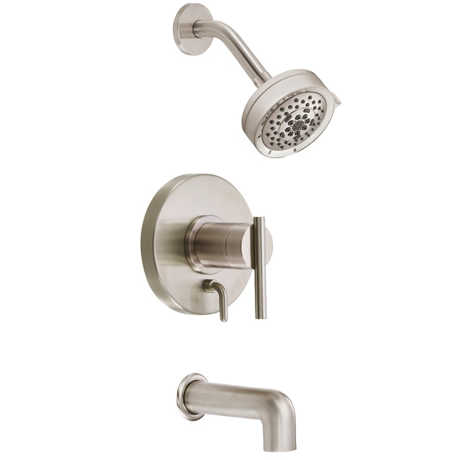 Danze Parma Brushed Nickel 1-Handle Bathtub and Shower Faucet Trim Kit with Multi-Function Showerhead
