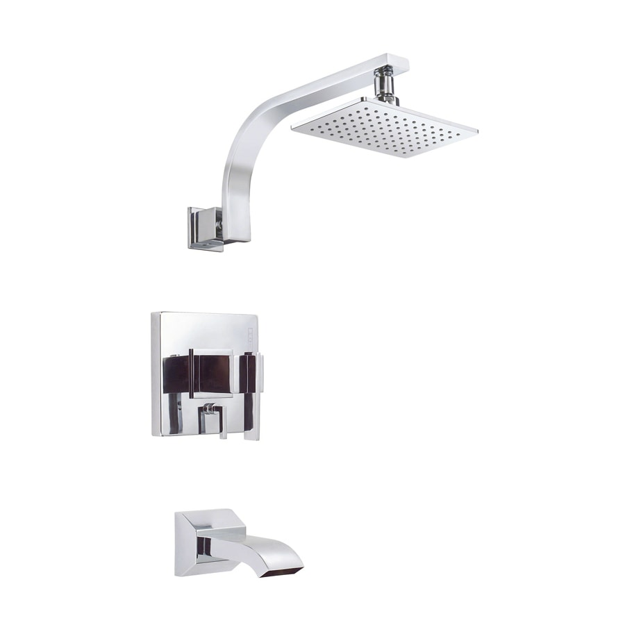 Danze Sirius Polished Chrome 1-Handle WaterSense Bathtub and Shower Faucet Trim Kit with Single Function Showerhead