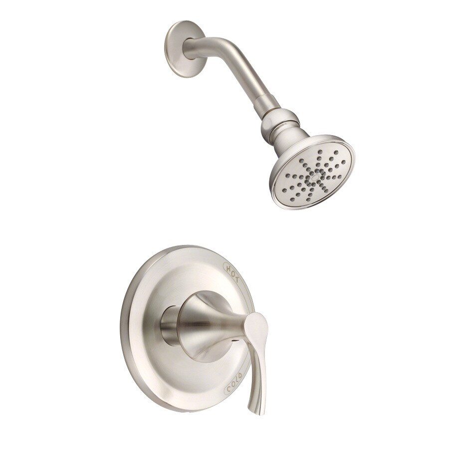 Danze Antioch Brushed Nickel 1-Handle Shower Faucet Trim Kit with Single Function Showerhead