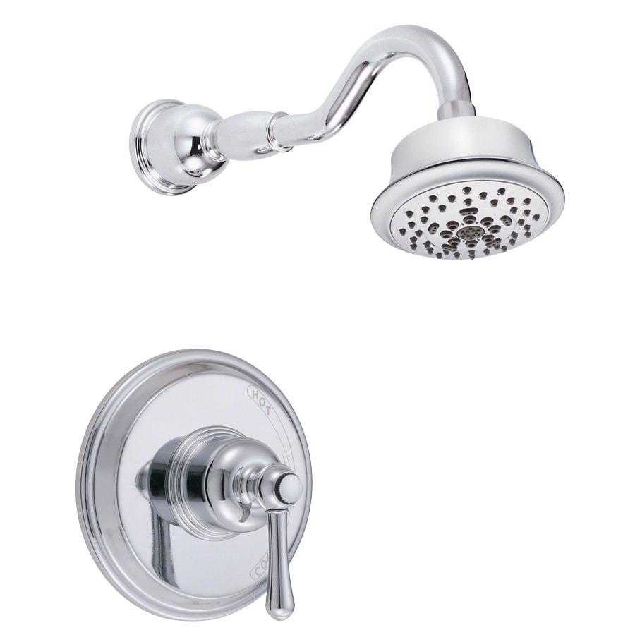 Danze Opulence Chrome 1-Handle Shower Faucet Trim Kit with Multi-Function Showerhead