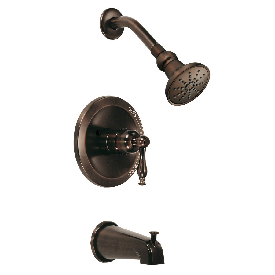 Danze Sheridan Oil-Rubbed Bronze 1-Handle Bathtub and Shower Faucet Trim Kit with Single Function Showerhead