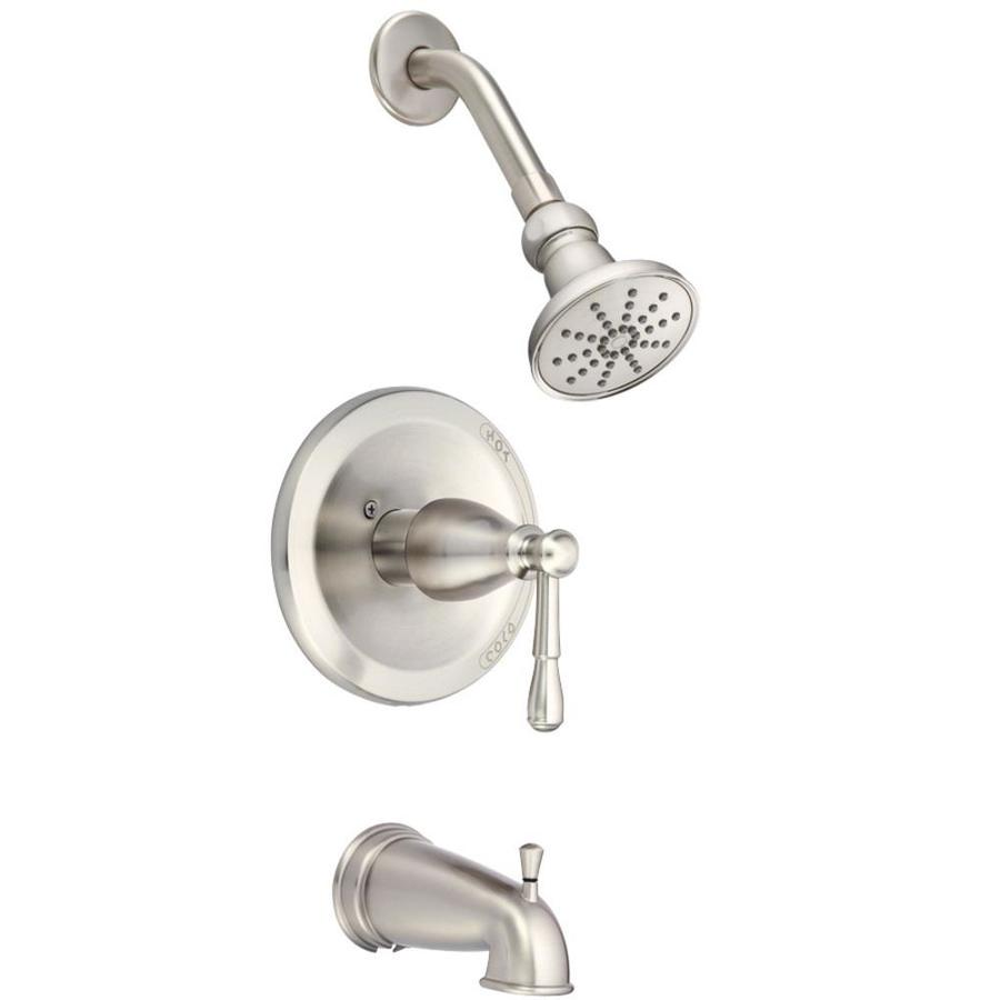 Danze Eastham Brushed Nickel 1-Handle Bathtub and Shower Faucet Trim Kit with Single Function Showerhead