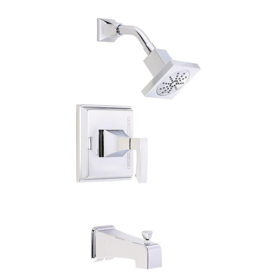 Danze Logan Square Chrome 1-Handle Bathtub and Shower Faucet Trim Kit with Single Function Showerhead