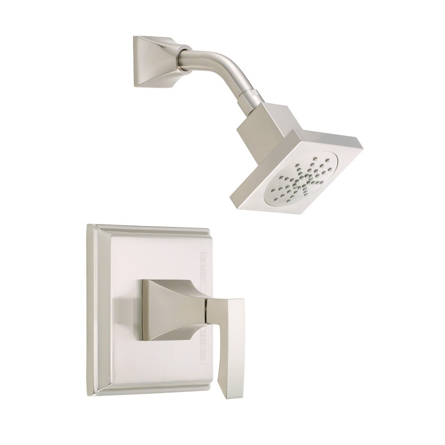 Danze Logan Square Brushed Nickel 1-Handle Shower Faucet Trim Kit with Single Function Showerhead