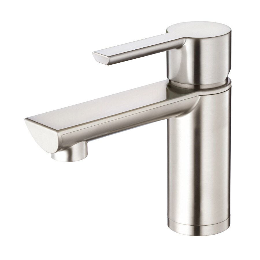 Danze Adonis Brushed Nickel 1-Handle Single Hole WaterSense Bathroom Faucet (Drain Included)