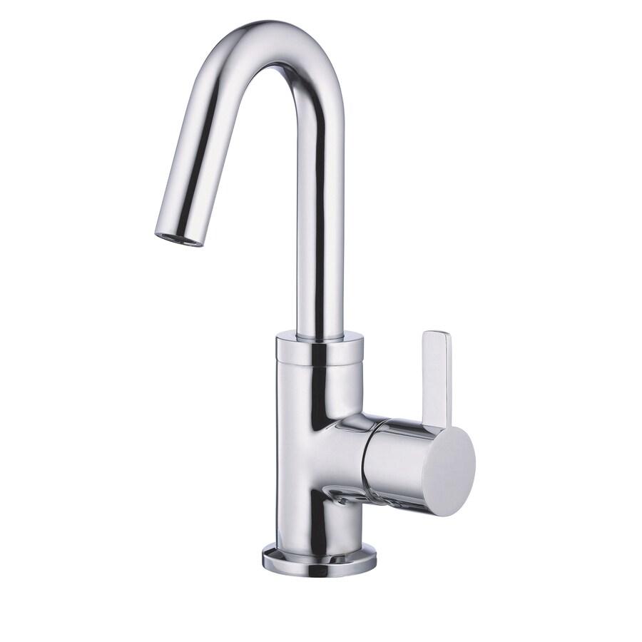 Danze Amalfi Chrome 1-Handle Single Hole WaterSense Bathroom Faucet (Drain Included)